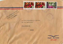 1973  Lettre Avion Pour La France  Journée Des Mille Fleurs Yv 84 X2,  Tiare Tahiti Yv 65 - Polynésie Française