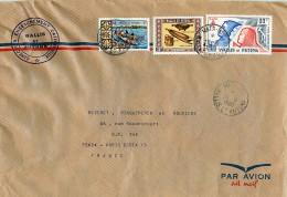 1980  Lettre  Avion Pour La France   Appel Du 18 Juin Yv PA 96,  Artisanat Yv 199, Pirogue Yv 174 - Covers & Documents
