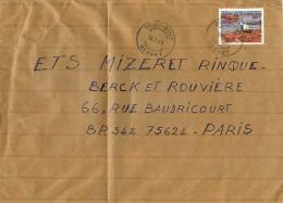 1985  Lettre  Avion Pour La France   Transport Des Billes Par Flottage - Afgestempeld