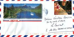 2001  Lettre Avion Pour La France   Millénium  Yv 6336 - Polynésie Française