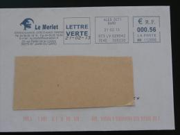 Lezard Lizard EMA Sur Lettre Slogan Meter On Cover Ales Gard - Reptiles & Batraciens