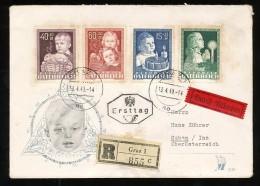 ÖSTERREICH Mi.Nr. 929-932 Glückliche Kindheit - Reco FDC - FDC