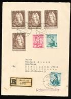 ÖSTERREICH Mi.Nr. 1028  Johann Bernhard Fischer Von Erlach - Reco Brief - 1945-.... 2ª República
