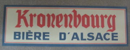 AFFICHE KRONENBOURG BIERE D'ALSACE 558 MM X 194 MM - Afiches