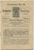 Briefmarken - Preisliste - Ernst Hayn Naumburg Saale - Preisliste Um 1900 - 16 Seiten - Revistas