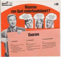 OPEL Euroservice & Opel Ascona-B (ca. 20 Cm X 18,5 Cm) - OPEL / GM - HollandNederland (See 2 Scans) - Publicités
