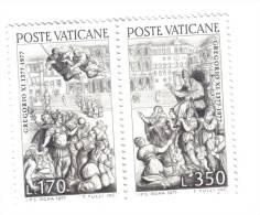 CITTA' DEL VATICANO 1977 6° CENTENARIO DEL RITORNO DI GREGORIO XI A ROMA 170+350  LIRE NUOVI ** COD.FRA.53 - Vatican