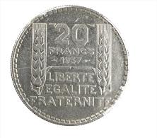 France - 20 Francs - Turin - 1937 - TTB+ - Argent 680/00 - L. 20 Franchi