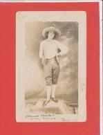 75 PARIS Carte Photo Animée D ' Yvonne Chaillot Souvenir De Vacances 1921 - Arrondissement: 16