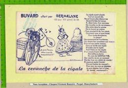 BUVARD :GERMALYNE  Super Aliment  La Cigale Et La Fourmi - Agriculture