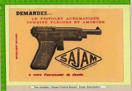 BUVARD  : Pistolet Automatique Fleches Et Amorces SAJAM - Sports