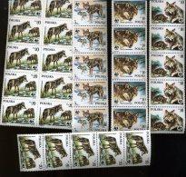 1985 WWF LOUPS  WOLF  Polska  Yv.2787/90 **  15 Complete Sets  Cote 2,50x10= 37,50 Euros - 1944-.... Republic