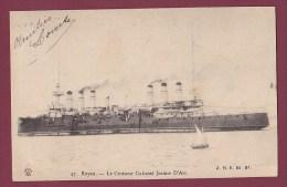 BATEAU GUERRE - 110713 -  ROYAN - Le Croiseur Cuirassé JEANNE D'ARC - Warships