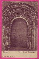 PC5081 Postcard: Doorway, Temple Church, London - London