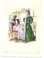 GUINO GONIN . ROBES D HIVER POUR LA REVUE DE LA MODE 1895 - Moda