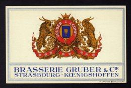 BIERE 67 BRASSERIE GRUBER & Cie à Koenigshoffen Strasbourg / Imp Alsacienne Format CPA (verso Vierge) - Réf  A1361 - Other