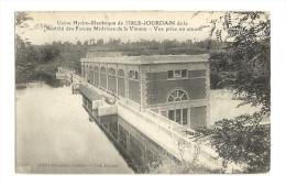 Cp, 86, L'Isle-Jourdain, Usine Hydro électriquede La Sté Des Forces Motrices De La Vienne, Voyagée 1922 - L'Isle Jourdain