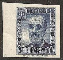 ESPAÑA 1936/38 - Edifil #739s (sin Dentar) - MLH * - 1931-50 Unused Stamps