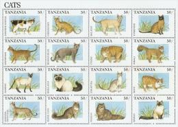 B003 Tanzania 1991 Cats s/s