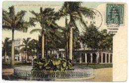 CP, HAVANA, A Corner Of Colon Park, Dos Simple, écrite, Voyagé - Postcards