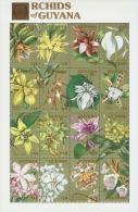 B020 Guyana 1990 Orchids of Guyana s/s