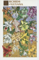 B021 Guyana 1990 Orchids of Guyana s/s