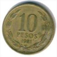 Chile- 10 Pesos - 1987- KM 218.1 - Vz - Chile