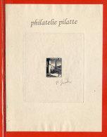 TUNISIE N°403 EPREUVE D´ARTISTE MOSQUEE COULEUR EN NOIR - Tunisie (1956-...)