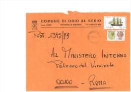 ORIO AL SERIO - 24050 - PROV. BERGAMO - LS - FORMATO 18X24 - TEMA TOPIC COMUNI D´ITALIA - STORIA POSTALE - Affrancature Meccaniche Rosse (EMA)