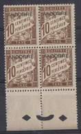 AND-15 - ANDORRE Taxe N° 2 En Bloc De 4 Bord De Feuille Neuf**