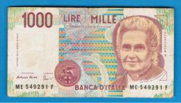 ITALIA - ITALY =  1000 Liras 1990  P-114 - [ 5] Trésor
