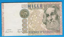ITALIA - ITALY =  1000 Liras 1982 SC  P-109 - [ 5] Tesoro