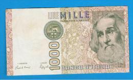 ITALIA - ITALY =  1000 Liras 1982 Circulado  P-109 - [ 5] Tesoro