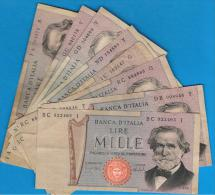 ITALIA - ITALY =  1000 Liras 1969  P-101 - [ 5] Trésor