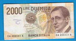 ITALIA - ITALY =  2000 Liras 1990  P-115 - [ 5] Trésor