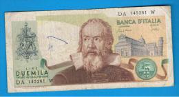 ITALIA - ITALY =  2000 Liras 1973  P-103 - [ 5] Trésor