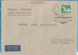 1965 X JUGOSLAVIJA CROAZIA DUBROVNIK MALEV UNGARN UNGHERIA FIRST FLIGHT LETTER RARO POSTA AEREA - 1945-1992 Socialist Federal Republic Of Yugoslavia