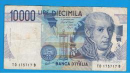ITALIA - ITALY =  10.000 Liras 1984  P-112 - [ 5] Trésor