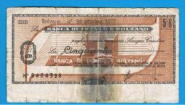 ITALIA - ITALY =  50 Liras Banca Di Trento E Bolzano 1977 - [ 4] Emisiones Provisionales