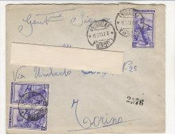 A2217 - 3x20 £ Lavoro Su Espresso  VG Lucera-Torino 28/12/1950 - 6. 1946-.. Repubblica