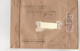 A2243 - 40£ Lavoro + 100£ Sirac. Formato Grande Su Manoscritti Raccomandati  VG Varese-Torino 04-02-1957 - 6. 1946-.. Repubblica