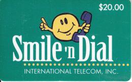 "ALASKA - Smile ""n Dial, International Telecom Prepaid Card $20, Tirage 100, 03/95, Used - Schede Telefoniche"