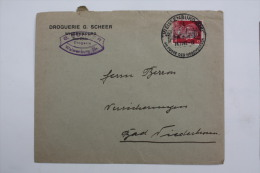 Enveloppe 1942 Wissembourg --> Bad Niederbronn / Niederbronn Les Bains Affr. 12pf Type A.Hitler / Cachet à Date Illus - Alsace-Lorraine