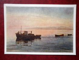 Lake Sevan - Boats - 1957 - Armenia USSR - Unused - Armenië
