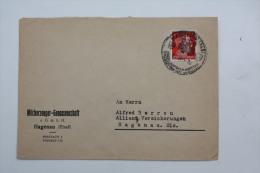 Enveloppe 1943 Haguenau  Affr. 8pf Type A.Hitler Tarif Local  / Cachet à Date Illustré - Alsace-Lorraine