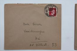 Enveloppe 1943 Haguenau  Affr. 12pf Type A.Hitler   / Cachet à Date Illustré - Alsace-Lorraine