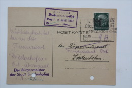 Carte Postale 1941  Saarbrücken --> Didenhoffen / Thionville  Affr. 6pf Type Hindenburg - Alsace-Lorraine