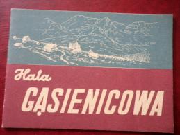 Hala Gasienicowa - Tatra Mountains - Mini Format Book - 1953 - Poland - Unused - Livres, BD, Revues
