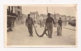 Rare Photo Originale 112 Mm X 66 Mm Batz-sur-Mer 44 - Le Port - Retour De Pêche - Animée - Années 1910-1920 - Le Croisic - Orte