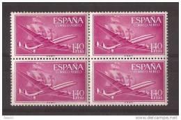 ES1174-LA321TTOA.Spain Espagne SUPER-CONSTELLATION Y NAO SANTA MARIA 1955/56.(Ed.1174**)sin Charnela LUJO  BLOQUE DE 4 - Transporte